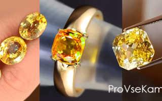 Желтый сапфир — солнечное сокровище
