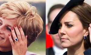 Кольцо принцессы Дианы и Кейт Миддлтон с сапфиром