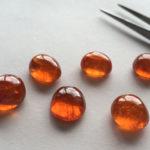 Оранжевые кабошоны
