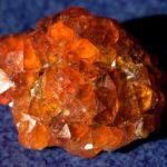 Друза оранжевых кристаллов