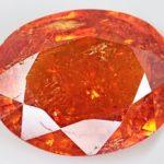 Огранка оранжевый камень спессартин