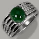 Серебряное кольцо с мутным самоцветом не самого высокого качества