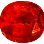 Красный кристалл округлый