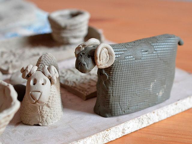 Барашки из глины