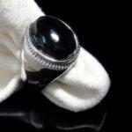 Мужской перстень с черным агатом