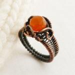 Кольцо с карнеолом сердоликом
