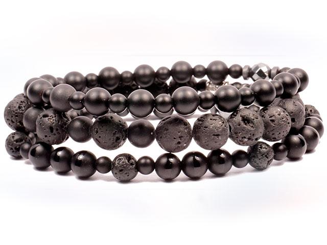 Браслеты из черного минерала
