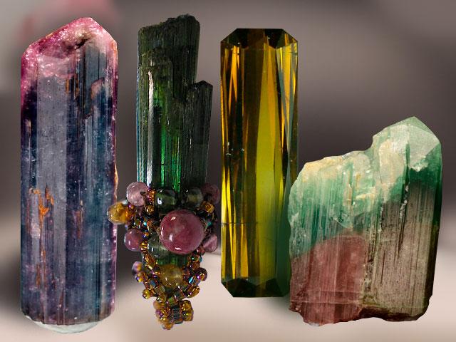 Разноцветные кристаллы
