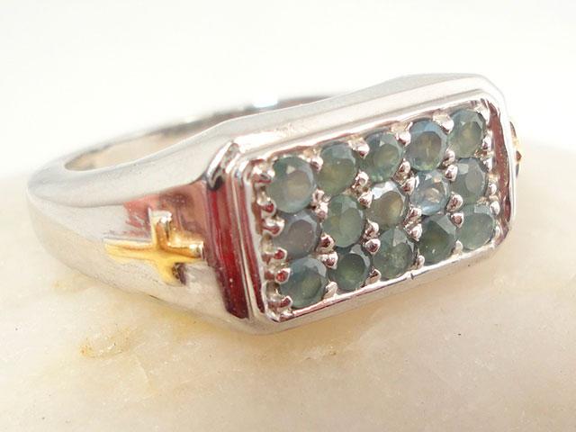 Перстень с александритами для мужчины