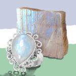 Лунный камень и кольцо с ним