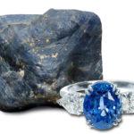 Сапфир природный и кольцо