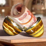 Шкатулка из натурального камня с деньгами