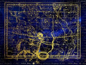 Созвездие Стрельца на карте звездного неба