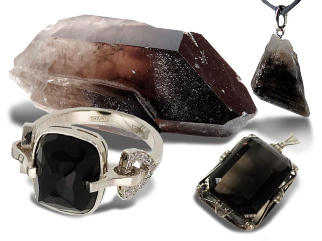 Черные кристаллы и украшения из них