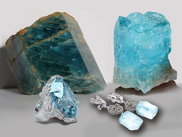 Голубые кристаллы и изделия для Водолея