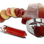 Пример изделий из красного агата