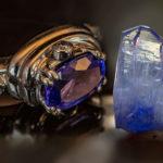 Танзанит кольцо и кристалл