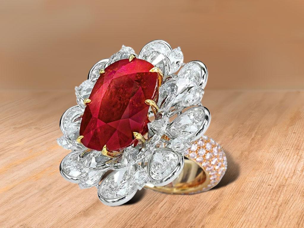 Одно из самых дорогих колец с рубином