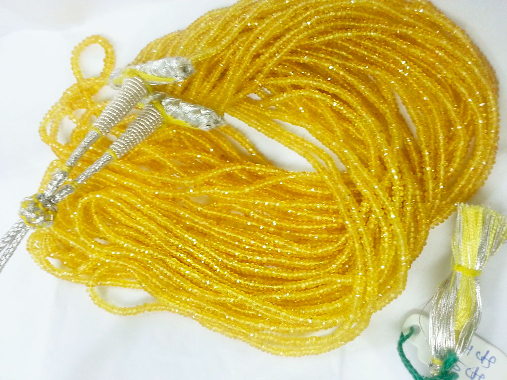 Бусы из желтых сапфиров